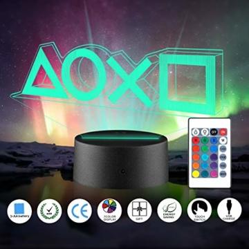 Xpassion Playstation Lampe mit Farbwechsel Funktion 16 Farben LED-Tisch-Schreibtisch-Lampen USB-Lade, die Schlafzimmer-Dekoration für Kinder Weihnachten Halloween-Geburtstagsgeschenk beleuchten - 1