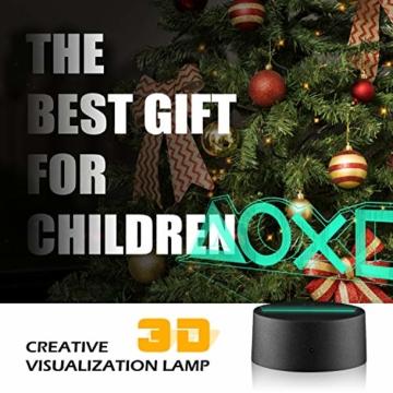 Xpassion Playstation Lampe mit Farbwechsel Funktion 16 Farben LED-Tisch-Schreibtisch-Lampen USB-Lade, die Schlafzimmer-Dekoration für Kinder Weihnachten Halloween-Geburtstagsgeschenk beleuchten - 7