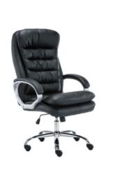 XXL Bürostuhl Vancouver Mit Kunstlederbezug I Drehstuhl Mit max. 235 KG Belastbarkeit I Chefsessel Mit Laufrollen, Farbe:schwarz - 1