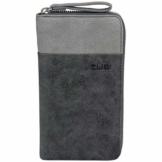 Zwei Eva EV2 Reißverschluss Geldbörse Portemonnaie Geldbeutel Brieftasche, black - 1