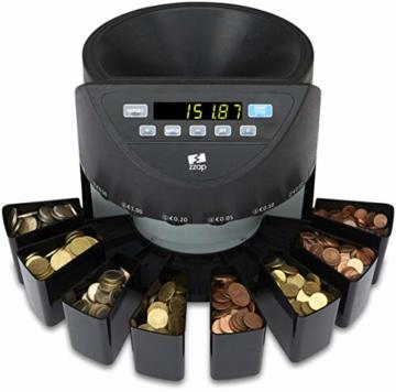 ZZap CS20 - Automatischer EURO Münzzähler & -sortierer - Geldzählmaschine Münzzählautomat Geldzähler - 2