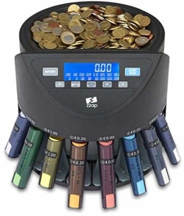 ZZap CS20+ Automatischer EURO Münzzähler & -sortierer - Geldzählmaschine Münzzählautomat Geldzähler - 4