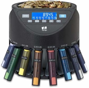 ZZap CS20+ Automatischer EURO Münzzähler & -sortierer - Geldzählmaschine Münzzählautomat Geldzähler - 6