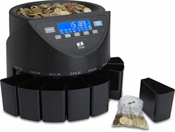 ZZap CS20+ Automatischer EURO Münzzähler & -sortierer - Geldzählmaschine Münzzählautomat Geldzähler - 7