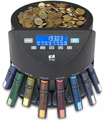 ZZap CS20+ Automatischer EURO Münzzähler & -sortierer - Geldzählmaschine Münzzählautomat Geldzähler - 9