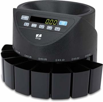 ZZap CS20 - Automatischer EURO Münzzähler & -sortierer - Geldzählmaschine Münzzählautomat Geldzähler - 3