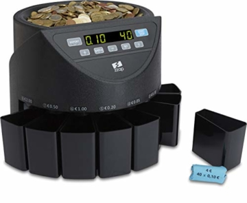 ZZap CS20 - Automatischer EURO Münzzähler & -sortierer - Geldzählmaschine Münzzählautomat Geldzähler - 4