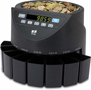 ZZap CS20 - Automatischer EURO Münzzähler & -sortierer - Geldzählmaschine Münzzählautomat Geldzähler - 1