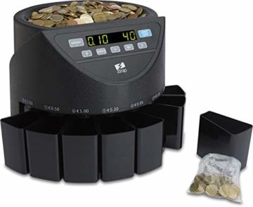 ZZap CS20 - Automatischer EURO Münzzähler & -sortierer - Geldzählmaschine Münzzählautomat Geldzähler - 5