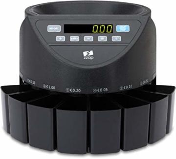ZZap CS20 - Automatischer EURO Münzzähler & -sortierer - Geldzählmaschine Münzzählautomat Geldzähler - 6