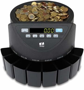 ZZap CS20 - Automatischer EURO Münzzähler & -sortierer - Geldzählmaschine Münzzählautomat Geldzähler - 7