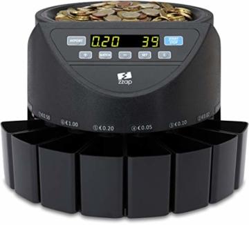 ZZap CS20 - Automatischer EURO Münzzähler & -sortierer - Geldzählmaschine Münzzählautomat Geldzähler - 8