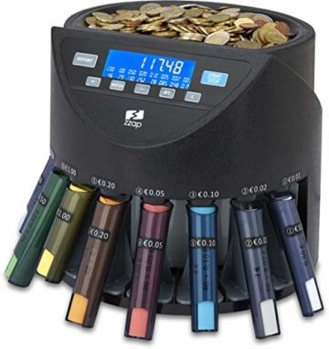 ZZap CS20+ Automatischer EURO Münzzähler & -sortierer - Geldzählmaschine Münzzählautomat Geldzähler - 1