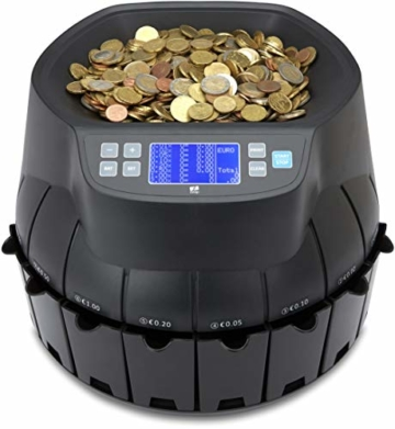 ZZap CS40 - Automatischer EURO Münzzähler & -sortierer - Geldzählmaschine Münzzählautomat Geldzähler - 2