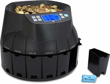 ZZap CS40 - Automatischer EURO Münzzähler & -sortierer - Geldzählmaschine Münzzählautomat Geldzähler - 3