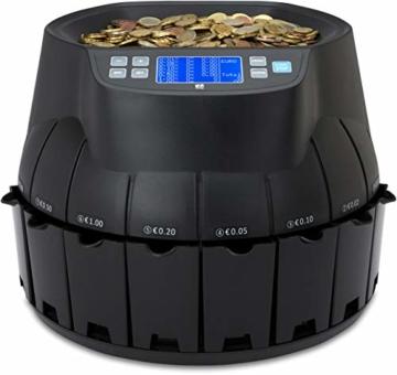ZZap CS40 - Automatischer EURO Münzzähler & -sortierer - Geldzählmaschine Münzzählautomat Geldzähler - 4
