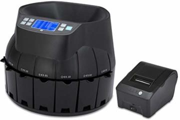 ZZap CS40 - Automatischer EURO Münzzähler & -sortierer - Geldzählmaschine Münzzählautomat Geldzähler - 5