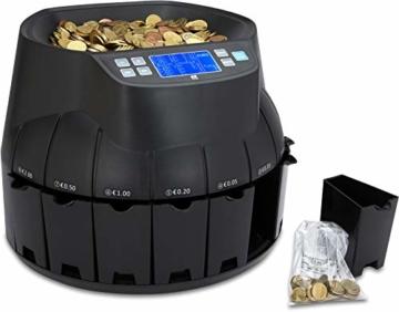 ZZap CS40 - Automatischer EURO Münzzähler & -sortierer - Geldzählmaschine Münzzählautomat Geldzähler - 6