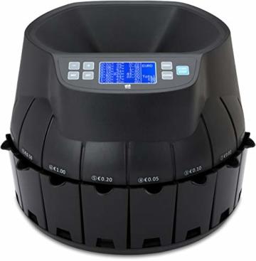 ZZap CS40 - Automatischer EURO Münzzähler & -sortierer - Geldzählmaschine Münzzählautomat Geldzähler - 9