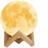 AcornSolution Mondlampe, 3D-Druck, LED-Mondlicht, Lampe für Kinder, dimmbar, Touch-Control, Helligkeitslicht für Heimdekoration und Geschenke für Partner, Eltern, Freunde, 16 RGB-Farben, 15 cm - 1