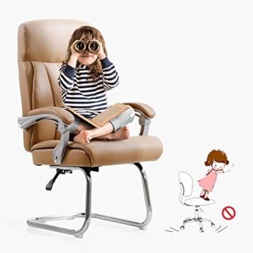 Afanyu Afanyu Leather Boss Chair, Stuhl mit Chromgestell, Bionic Ergonomics, 150 \ u0026Deg; Zurücklehnen, Fünf-Punkt-Unterstützung/Beruhigender Gegendruck, Hohe Belastbarkeit (Braun) - 2