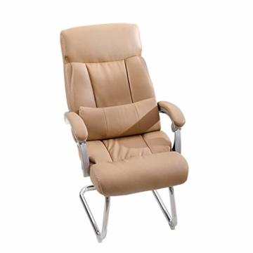 Afanyu Afanyu Leather Boss Chair, Stuhl mit Chromgestell, Bionic Ergonomics, 150 \ u0026Deg; Zurücklehnen, Fünf-Punkt-Unterstützung/Beruhigender Gegendruck, Hohe Belastbarkeit (Braun) - 3