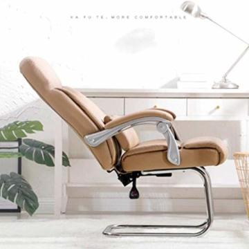Afanyu Afanyu Leather Boss Chair, Stuhl mit Chromgestell, Bionic Ergonomics, 150 \ u0026Deg; Zurücklehnen, Fünf-Punkt-Unterstützung/Beruhigender Gegendruck, Hohe Belastbarkeit (Braun) - 4