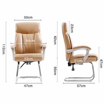 Afanyu Afanyu Leather Boss Chair, Stuhl mit Chromgestell, Bionic Ergonomics, 150 \ u0026Deg; Zurücklehnen, Fünf-Punkt-Unterstützung/Beruhigender Gegendruck, Hohe Belastbarkeit (Braun) - 7