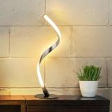 Albrillo Spiral LED Tischlampe aus Aluminium, Moderne Tischleuchte warmweiß mit 1.5 m Kabel Perfekt für Schlafzimmer Wohnzimmer - 1