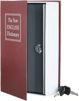 AmazonBasics - Buch-Safe, Schloss mit Schlüssel - Rot - 1