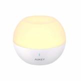 AUKEY Nachttischlampe, Wiederaufladbares Nachtlicht mit RGB-Farbwechsel & Dimmbares schlummerlicht, IP65 Wasserdicht & Sturzfest, Touch-Bedienung Tischlampe zum Lesen, Schlafen und Entspannen - 1