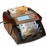 Banknotenzähler Geldzählmaschine Geldscheinzähler Wertzähler Geldzähler Geldscheinprüfer erkennt alle neue 100 und 200 EUR - 1
