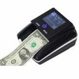 Bewegliche Kleine Banknotenzähler, Falschgeld-Detektor Mit Stückelung Wert Zählern, Gefälschte Falschgeld Währung Cash-Kontrolleur-Prüfvorrichtung-Maschine Mit Lithium-Batterie - 1