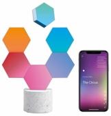 Cololight PRO Lichtsystem - Steuerung per App (Android und Apple), Alexa, Google Home, 16 Mio RGB LED Farben und Effekte, Gamingbeleuchtung zum Zusammenstecken, Stone Set mit 6 Modulen - 1