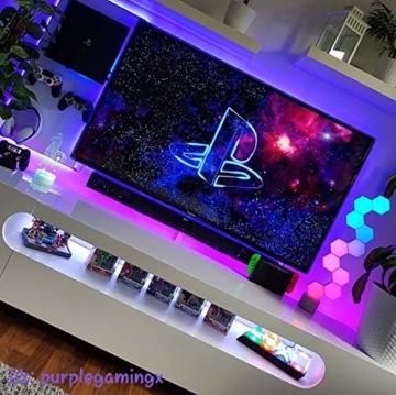 Cololight PRO Lichtsystem - Steuerung per App (Android und Apple), Alexa, Google Home, 16 Mio RGB LED Farben und Effekte, Gamingbeleuchtung zum Zusammenstecken, Stone Set mit 6 Modulen - 4
