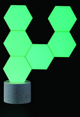 Cololight PRO Lichtsystem - Steuerung per App (Android und Apple), Alexa, Google Home, 16 Mio RGB LED Farben und Effekte, Gamingbeleuchtung zum Zusammenstecken, Stone Set mit 6 Modulen - 5