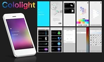 Cololight PRO Lichtsystem - Steuerung per App (Android und Apple), Alexa, Google Home, 16 Mio RGB LED Farben und Effekte, Gamingbeleuchtung zum Zusammenstecken, Stone Set mit 6 Modulen - 6