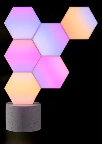 Cololight PRO Lichtsystem - Steuerung per App (Android und Apple), Alexa, Google Home, 16 Mio RGB LED Farben und Effekte, Gamingbeleuchtung zum Zusammenstecken, Stone Set mit 6 Modulen - 7