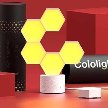 Cololight PRO Lichtsystem - Steuerung per App (Android und Apple), Alexa, Google Home, 16 Mio RGB LED Farben und Effekte, Gamingbeleuchtung zum Zusammenstecken, Stone Set mit 6 Modulen - 8