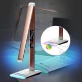 Eaxus® LED Schreibtischlampe mit RGB-Farbwechsel - Dimmbar mit Touch-Funktion, Kalender & Temperaturanzeige - 1