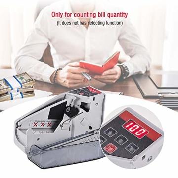 Fesjoy geldzählmaschine geldscheinprüfgerät geldprüfer geldzähler geldmaschine geldscheinzählmaschine geld zähler maschine falschgeld prüfgerät Tragbarer mini handlicher Geldzähler weltweit Bill Cash - 7