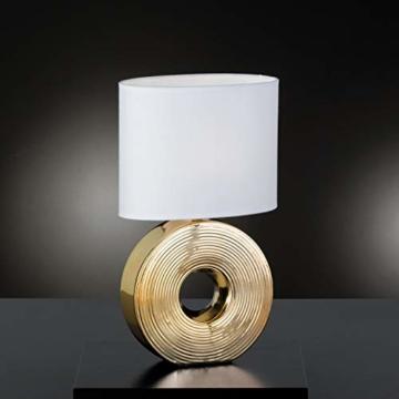Fischer & Honsel Eye Tischleuchte, gold/weiß - 2