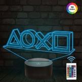 FULLOSUN Illusion-Nachtlicht 3D,LED-Tisch-Schreibtisch-Lampen, 16 Farben USB-Lade, die Schlafzimmer-Dekoration für Kinder Weihnachten Halloween-Geburtstagsgeschenk beleuchten - 1