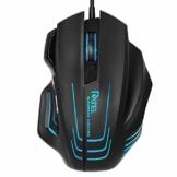 Gaming-Maus Verkabelt, WisFox Ergonomisch Spiel Mäuse mit 7 programmierbaren Tasten, 7 Chroma RGB Hintergrundbeleuchtung, Feuerknopf, Optische Gaming-Mäuse mit komfortablem Griff für Pro Gamer Schwarz - 1