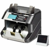 GOPLUS Banknotenzähler mit Echtheitsprüfung, 220-240V 90W, Geldzähler mit UV,MG,IR,DD- System, Geldzählmaschine mit LED- Display, für Euroscheine, mit Update-Funktion, mit Wertzählung - 1