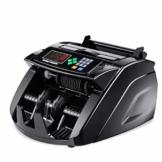 HEMFV Banknotenzähler, Bank Note Währung Zähler Zählen Detector Money Fast Banknote Pfund Geldautomat (Schwarz) - 1
