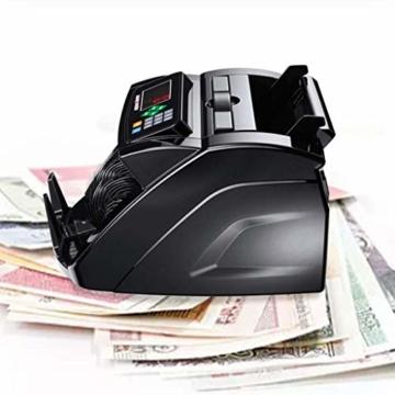 HEMFV Banknotenzähler, Bank Note Währung Zähler Zählen Detector Money Fast Banknote Pfund Geldautomat (Schwarz) - 3