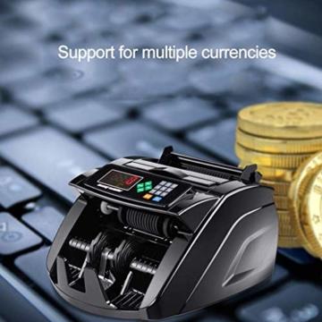 HEMFV Banknotenzähler, Bank Note Währung Zähler Zählen Detector Money Fast Banknote Pfund Geldautomat (Schwarz) - 4