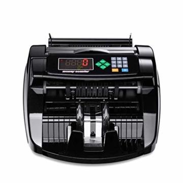 HEMFV Banknotenzähler, Bank Note Währung Zähler Zählen Detector Money Fast Banknote Pfund Geldautomat (Schwarz) - 5