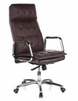 hjh OFFICE 600924 Chefsessel Bürostuhl VILLA 20 Nappaleder Braun Büro-Sessel mit hoher Rückenlehne - 1